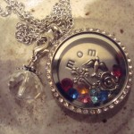 mom locket with birth stones
