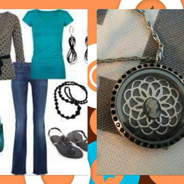 Fashion cameo locket with accessories by South Hill Designs