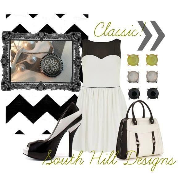 Fashion classic cameo locket with modern accessories from South Hill Designs