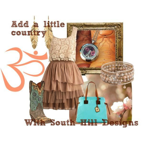 Fashion country locket with accessories from South Hill Designs