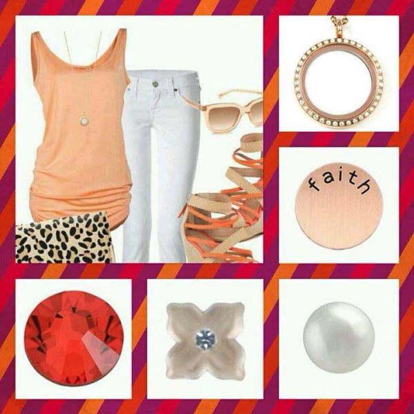 Fashion gold studded locket accessories from South Hill Designs