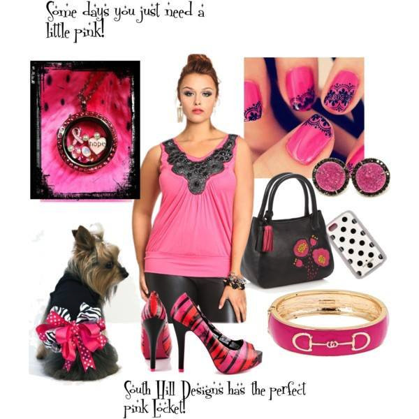 Fashion pink locket and accessories from South Hill Designs