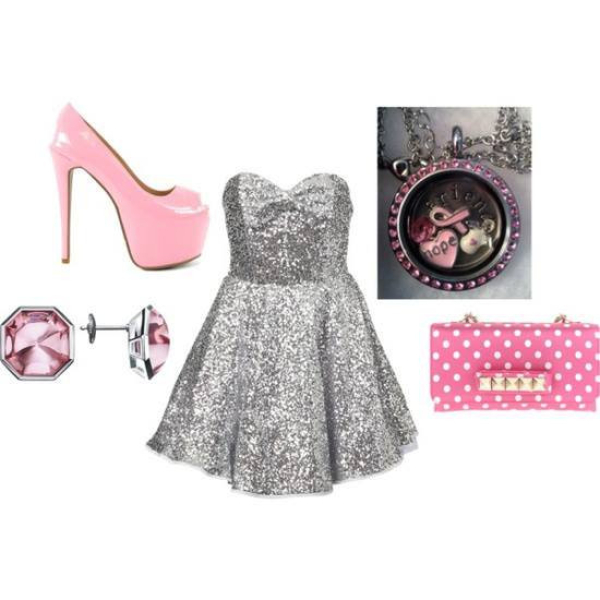 Fashion pink locket and glam accessories from South Hill Designs
