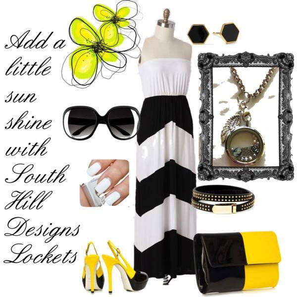 Fashion summer accessories and locket from South Hill Designs