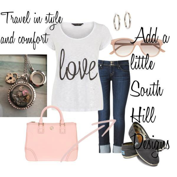 Fashion travel in style ensemble from South Hill Designs